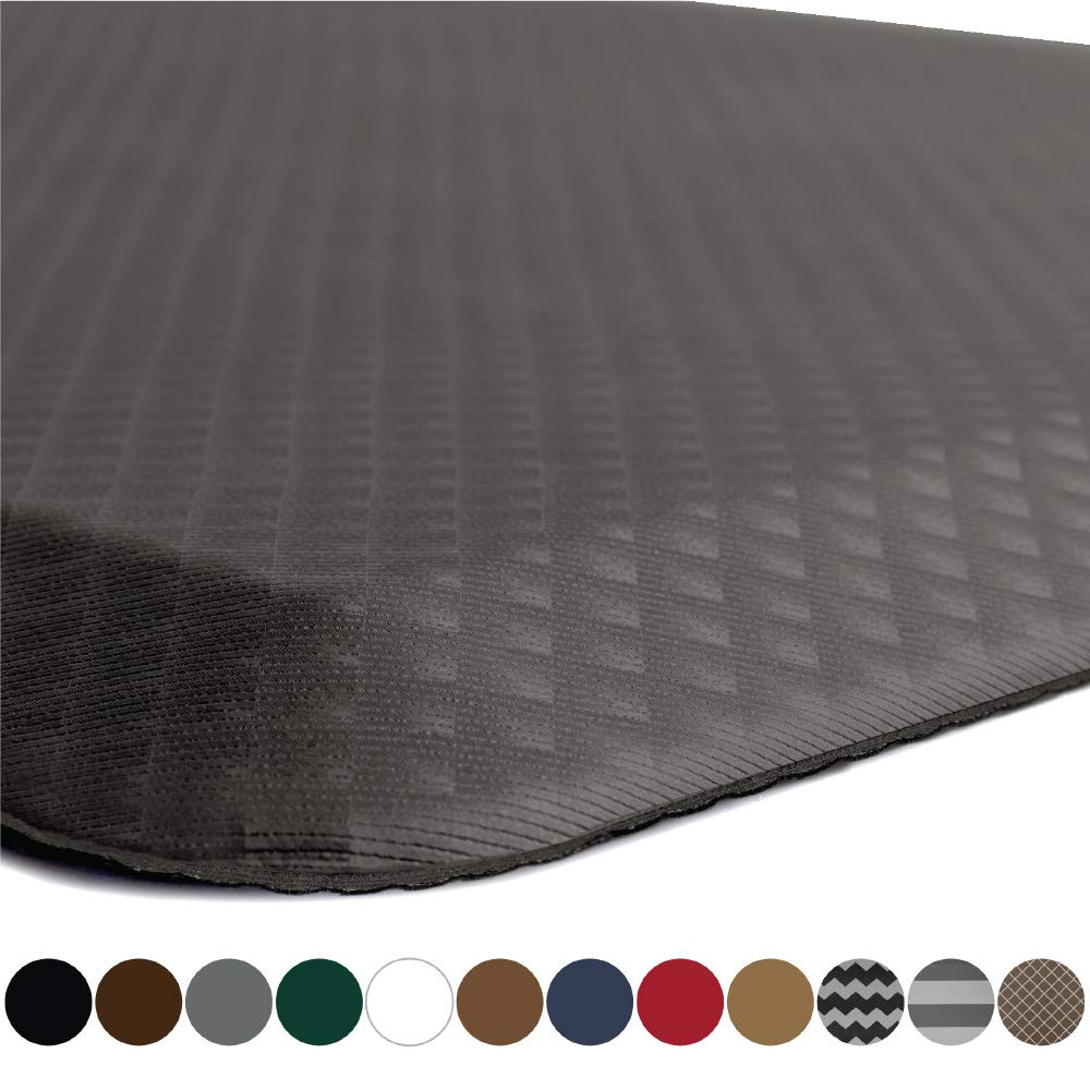 "KANGAROO BRANDS Original 3/4"" Anti-Fatigue Comfort Standing Mat Kitchen Rug, Phthalate Free, Non-Toxic, Waterproof, Ergonomically Engineered Floor Pad, Rugs for Office Stand Up Desk, 32x20 (Gray)"