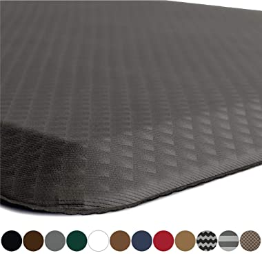 KANGAROO BRANDS Original 3/4  Anti-Fatigue Comfort Standing Mat Kitchen Rug, Phthalate Free, Non-Toxic, Waterproof, Ergonomically Engineered Floor Pad, Rugs for Office Stand Up Desk, 39x20 (Gray)