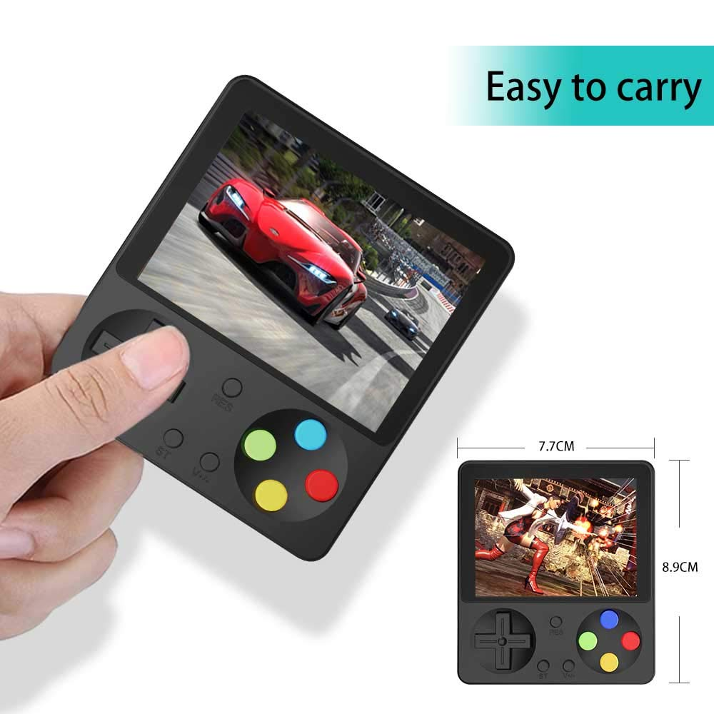 CHAONATECH Handheld Game Console, Portable Video Game 3 Inch HD Screen 333 Classic Games,Retro Game Console Can Play on TV, Good Gifts for Kids to Adult (Black) by CHAONATECH (Image #4)
