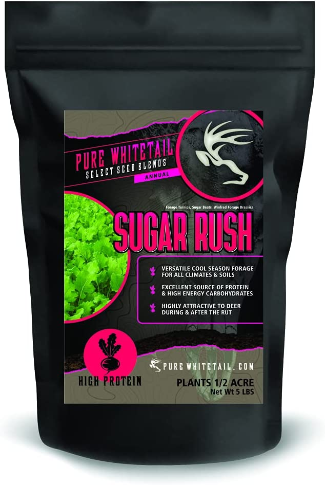 Pure Whitetail Sugar Rush – Select Seed Blends – Late Season Whitetail Deer Food Plot Attractant (5 lbs)