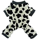 Fitwarm Adorable Milk Cows Pet Dog Clothes Comfy Velvet Winter Pajamas Coat Jumpsuit