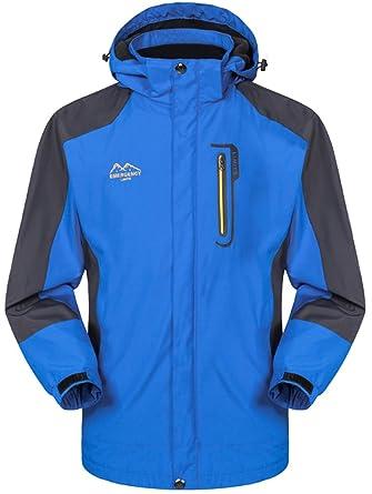 56af83fdadb1 Mochoose Homme Outdoor Mountain Imperméable Coupe-Vent Softshell de Ski à  Capuche Veste Vêtement de