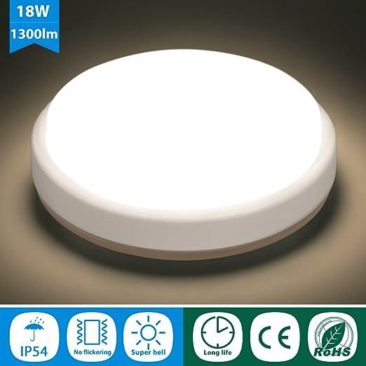 18W LED Deckenleuchte Deckenlampe Wohnzimmer Küche Flur Lampe Badleuchte Weiß DE