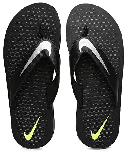 963f42bcce9e Nike Men's Black/Chrome-Volt-Cool Grey Chroma Thong 5 Flip Flops ...