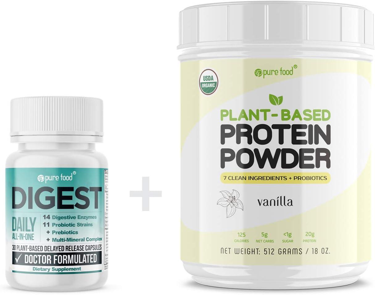 Pure Food Digest + Vanilla Protein Powder
