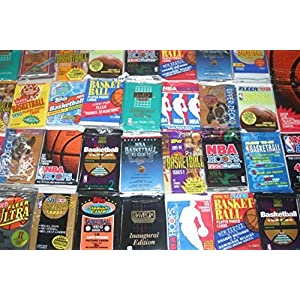 100 Vintage NBA Basketball Cards in Old Sealed Wax Packs Perfect for New Collectors Includes Players Such as Michael Jordan, Charles Barkley , Magic Johnson and Larry Bird !