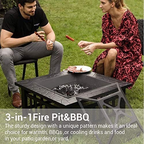 Lcxligang Portable Simple Barbecue BBQ Barbecue au Charbon Noir - Léger, for Le Camping, Pique-Nique, en Plein air