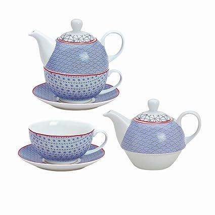 Tea For One Set 3-Teilig Porzellan Teekanne Mit Tasse Und Untertasse Mit Rosen U