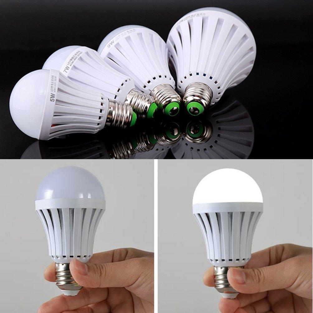 ctkcom 7 W LEDライト電球( 2パック) -緊急ランプ家庭用照明電球保存エネルギーインテリジェントLamps Rechargable Electricityホワイト色6500 K More 4時間停電照明e26 / e27ベース B06W2MFZ2R