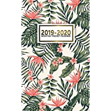 2019-2020 Monthly Pocket Planner: Two-Year Monthly Flamingo Pocket Planner with Phone Book, Password Log and Notebook. Cute 24 Month Flamingo Planner, Calendar, Agenda and Organizer.
