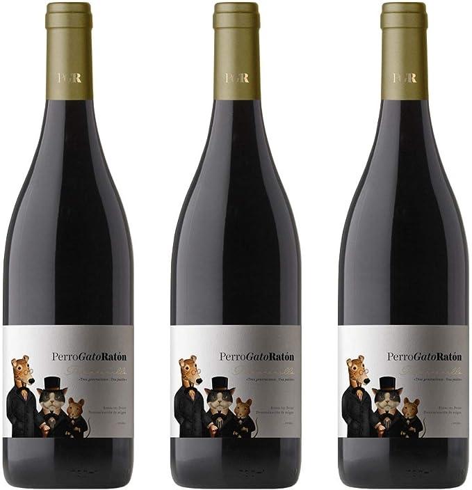 Perro Gato Raton Vino Tinto Crianza - 3 botellas x 750ml - total: 2250 ml: Amazon.es: Alimentación y bebidas