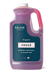 Kelvin Slush Co. – Frosé – Organic Frozen Cocktail & Slush Mix – Award-Winning Slush Machine & Blender Mix, Bars, Restaurants, At Home (64 oz bottle)