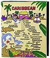 Caribbean Colorful Map Embossed Photo Album 200 Photos / 4x6