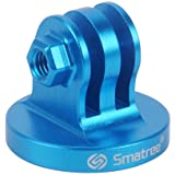 Smatree Aluminum Tripod Mount Adapter for GoPro Fusion/Session, Hero 6, 5, 4, 3+, 3, 2, 1 HD Blue