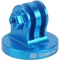 Smatree® Aluminium Stativ Mount Adapter für GoPro Hero 7/2018, Hero 6, 5, 4, 3, 2, 1 (Blue)