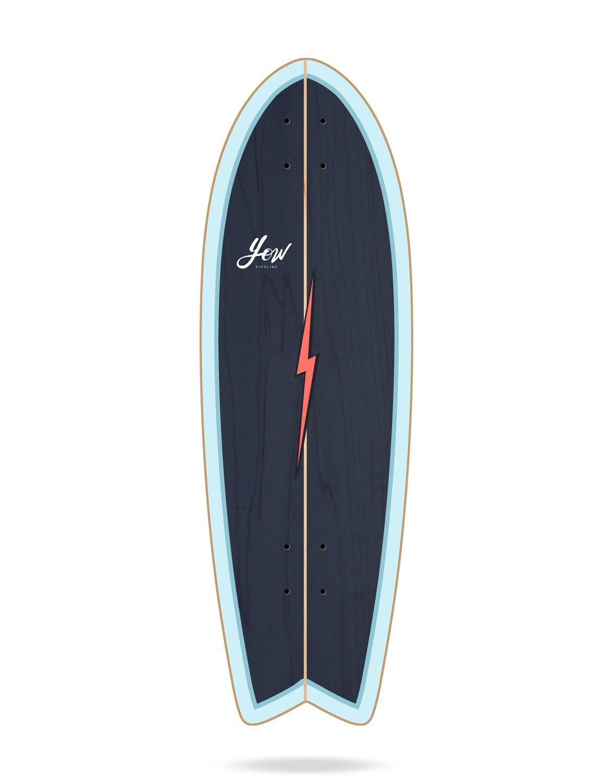 YOW Pipe Tablas Surfskate, Unisex Adulto, Azul, 32: Amazon.es ...