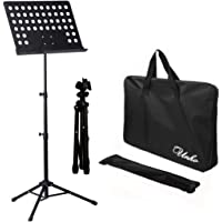 UNHO Sheet Music Stand Professional Folding Conductor Orchestral Sheet Stand Music Holder Portable Metal Books Holder…