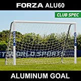 Forza Alu60 Soccer Goal - Club Spec Aluminum Soccer Goal (Choose Your size 6ft x 4ft -> 24ft x 8ft) Long-Lasting And Weather-Resistant Alu60 Soccer Goals [Net World Sports] (8ft x 4ft)