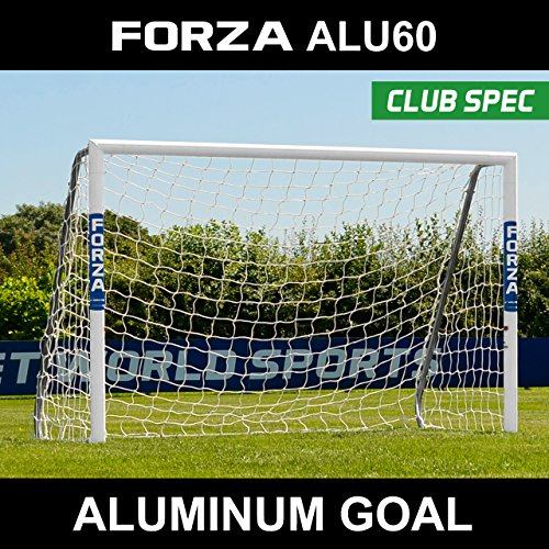 Forza Alu60 Soccer Goal (Choose Your Size 6ft x 4ft -> 24ft x 8ft) – Super Strong Aluminum Soccer Goal Perfect For Mini Soccer [Net World Sports] (12ft x 6ft) (Soccer Goal Post Size)