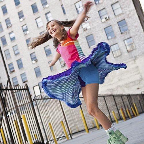 TwirlyGirl Pretty Skirts For Girls Reversible Twirly Ruffle Skirt | Luv, Peace & Bubbles Size 3T