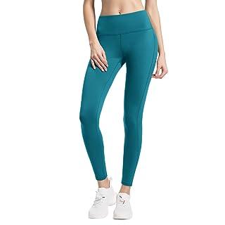 QUEENIEKE Women Power Flex Yoga Pants Workout Running Leggings No See-Through Size 4/6 Color Teal