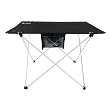 Portable Folding Camping Table Ultralight   Datechip Collapsible Travel  Table With Table Cover,Aluminum Legs