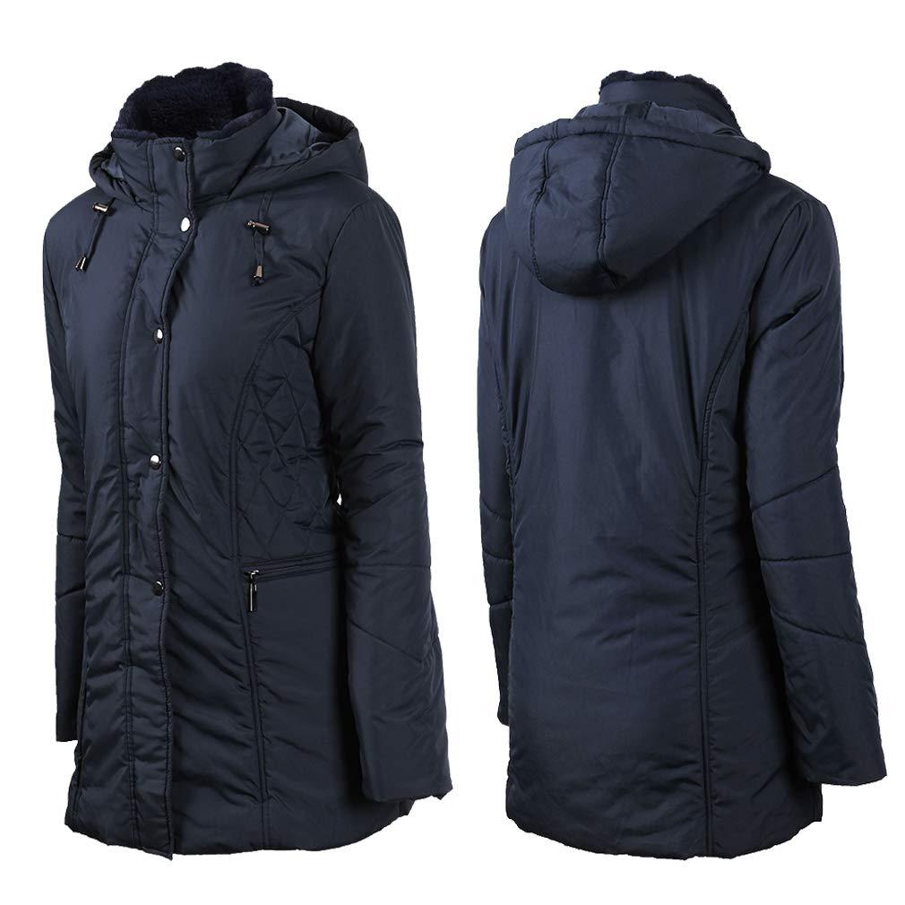 S-3XXL Plusfeel Womens Outdoor Sports Military Hooded Windproof Parka Anroaks Mid-Length Jacket Coats