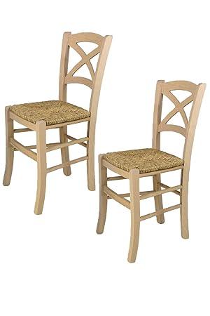 Tommychairs sillas de Design - Set de 2 sillas clásicas Cross para ...