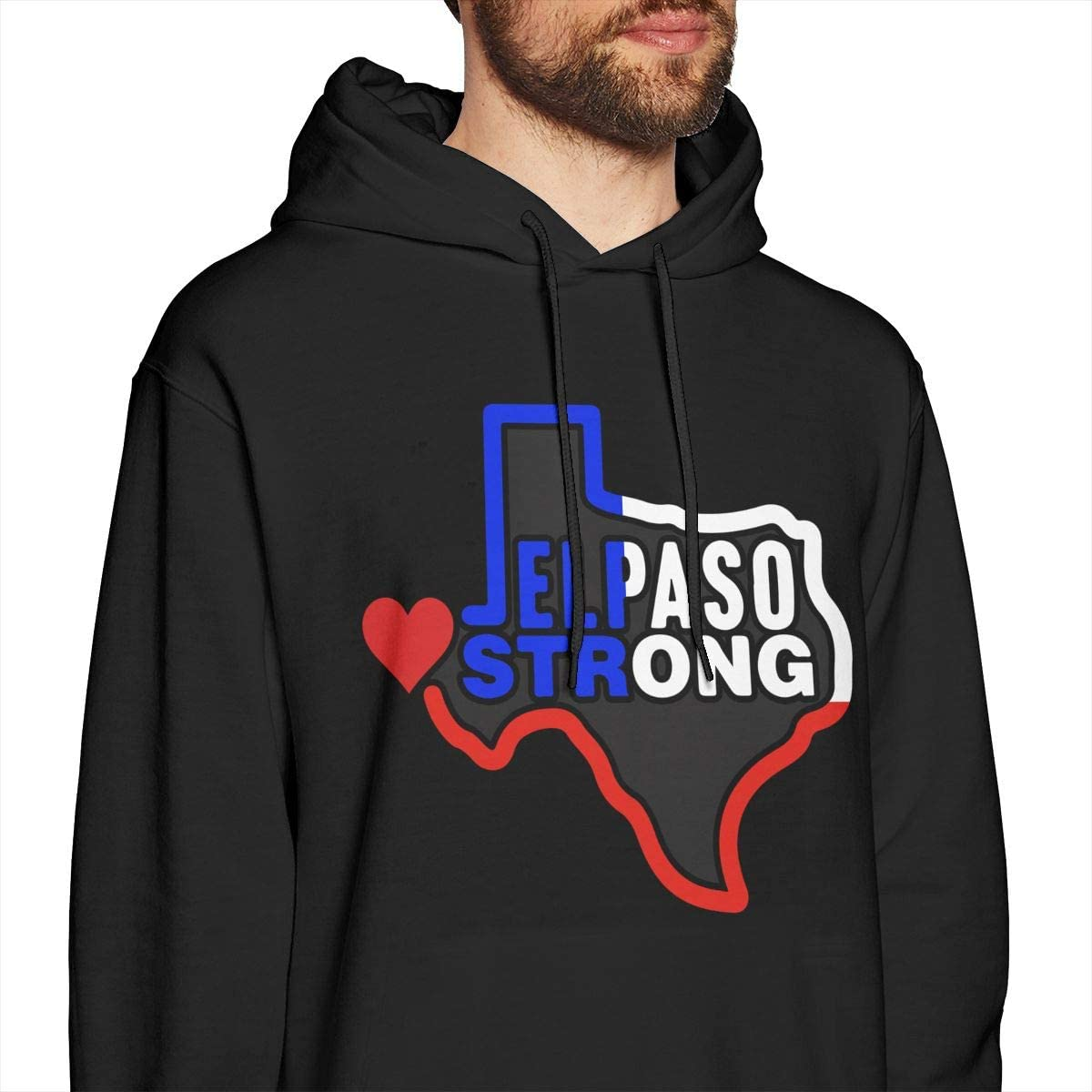 MUSICOT El Paso Strong Mens Pullover Hooded Sweatshirt Cozy Sport Outwear