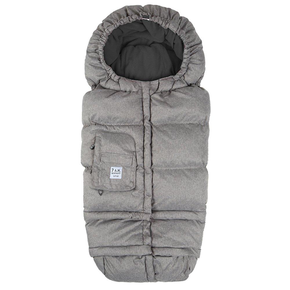 7 A.M. Enfant Blanket 212 Evolution Footmuff-Heather Grey Fleece Lining by 7A.M. Enfant   B014UX2W3A