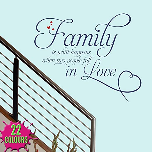 family is what happens 2 wall decal quote sticker lounge living