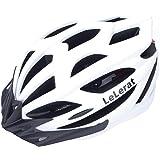 LeLerat - Casco de bicicleta para adultos con luces traseras, casco de bicicleta con visera extraíble para carretera de monta