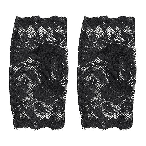 Kloud City Women's Floral Lace Gloves Fingerless Gothic Witch Rose Wedding