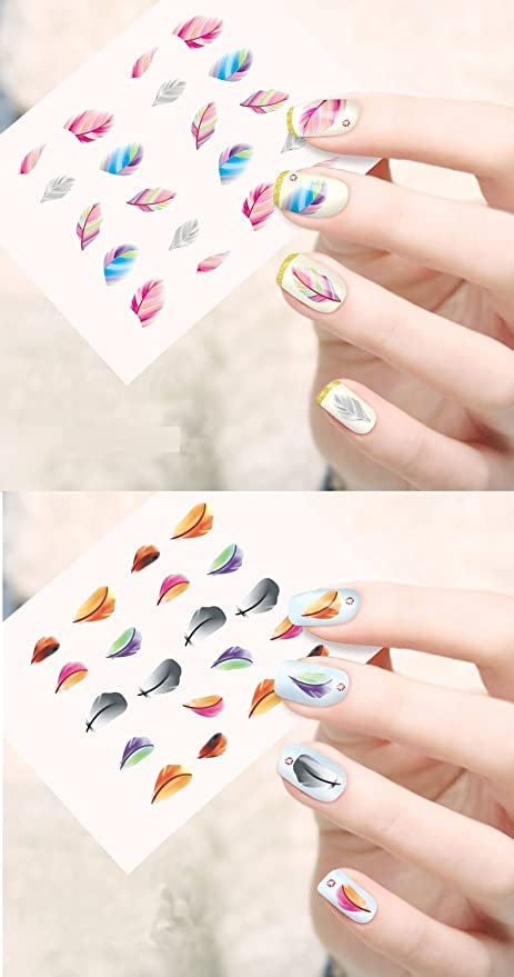 Buy Jenna NR-002 Water Transfer Nail Art Decals Stickers, White ...
