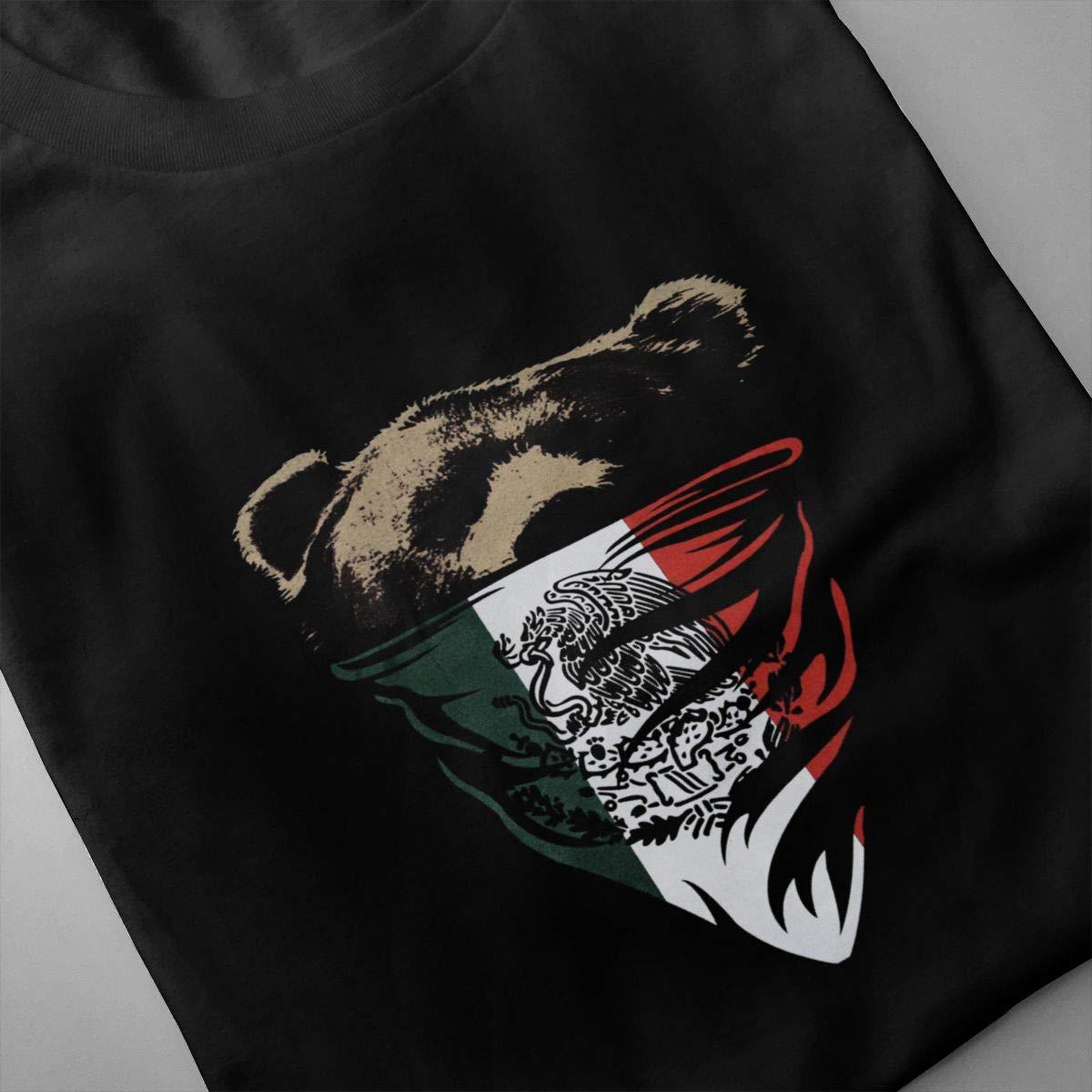 Xuforget Mens California Republic Camouflage Bandana Bear Classic Short Sleeve T-Shirt Cotton Tops