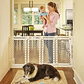 """Supergate Extra-wide Gate, Ivory, Fits Spaces Between 22"""" To 62"""" Wide & 31""""high 3"""
