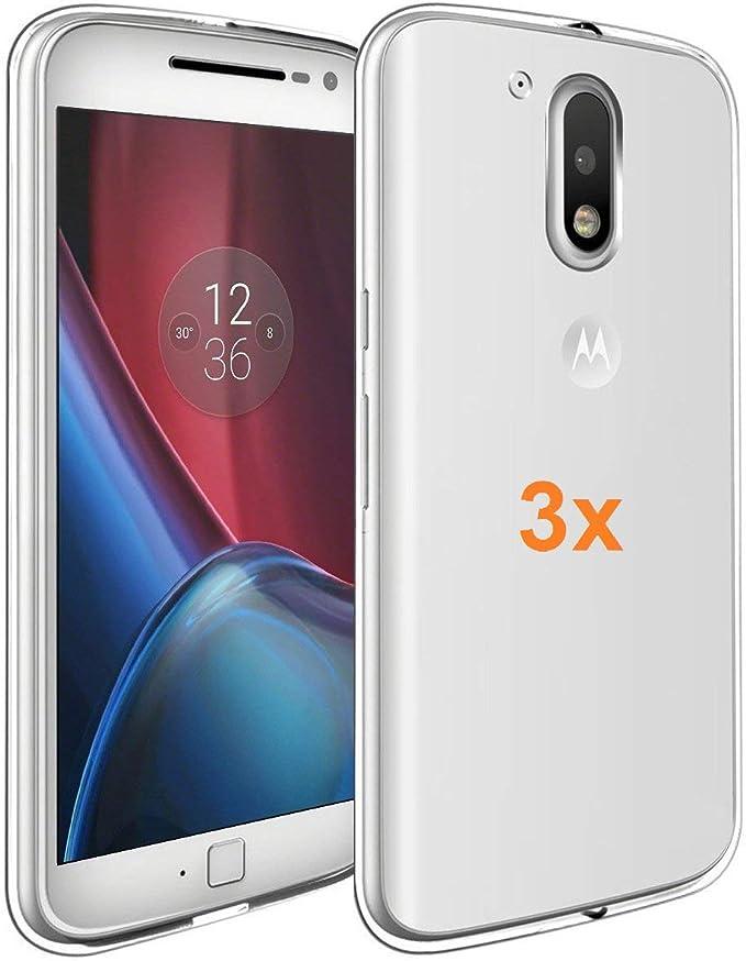 REY 3X Funda Carcasa Gel Transparente para Motorola Moto G4 / G4 ...