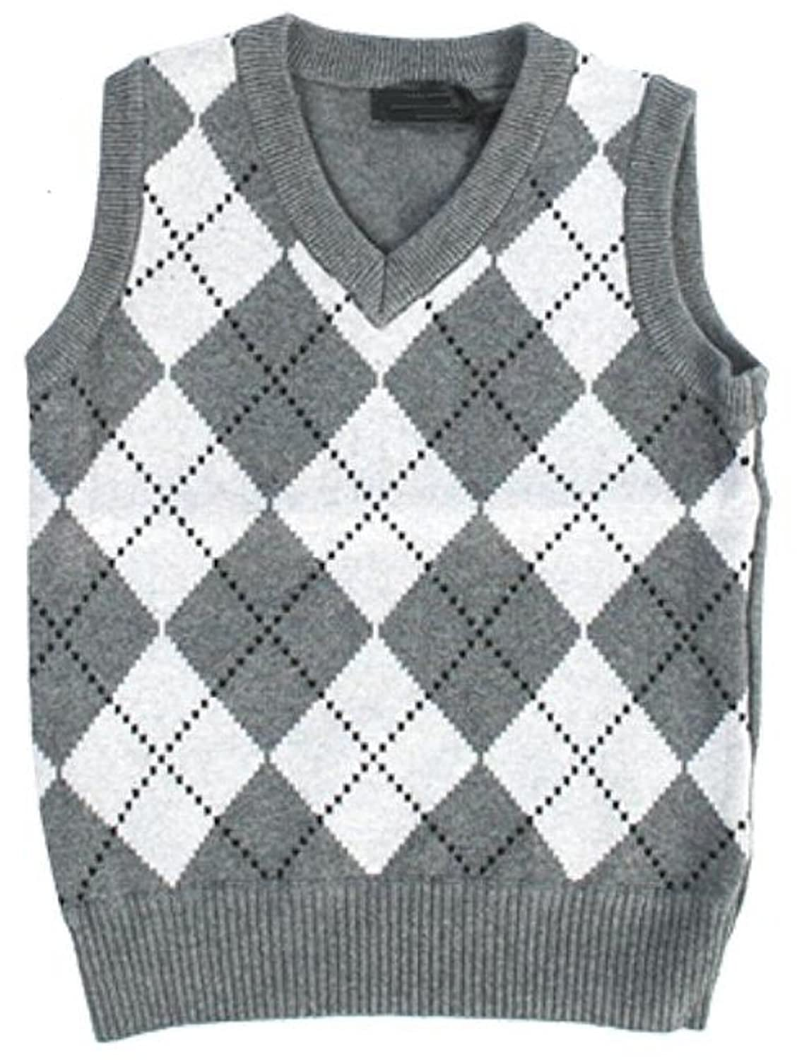 Amazon.com: Fouger Little Boys' Diamond Sweater Vest: Clothing