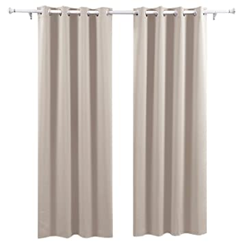 deconovo lot de 2 rideaux occultants home decorative super soft oeillet rideau occultant oeillet fenetre
