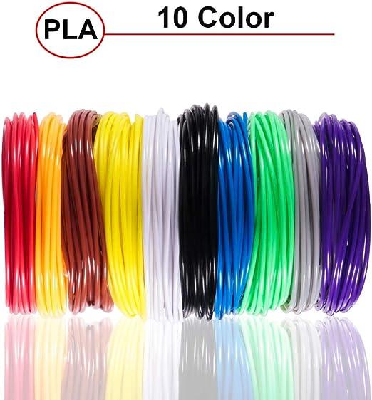 VLUNT HOME Rellenos De Filamento De Pluma 3D PLA, 5/10/20 Colores ...