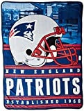 Northwest Officially Licensed NFL New England Patriots Stacked Silk Touch Throw Blanket, 60″ x 80″