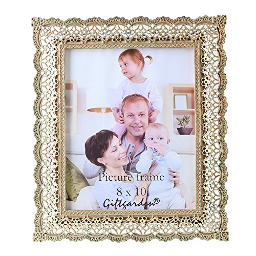 Giftgarden Golden Vintage Picture Frame 8×10 Friends Gift for Photo 8 by 10 Inch