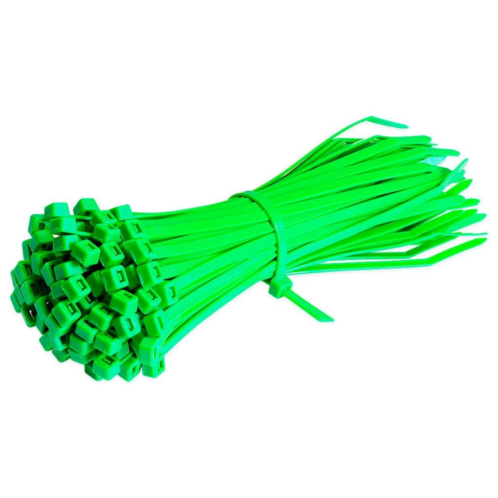 Liping 100PCS 7.8Inch/200mm Heavy Duty Nylon Cable Ties Zip Ties with 0.15 Inch/4mm Width, Indoor and Outdoor UV Resistant (Green)