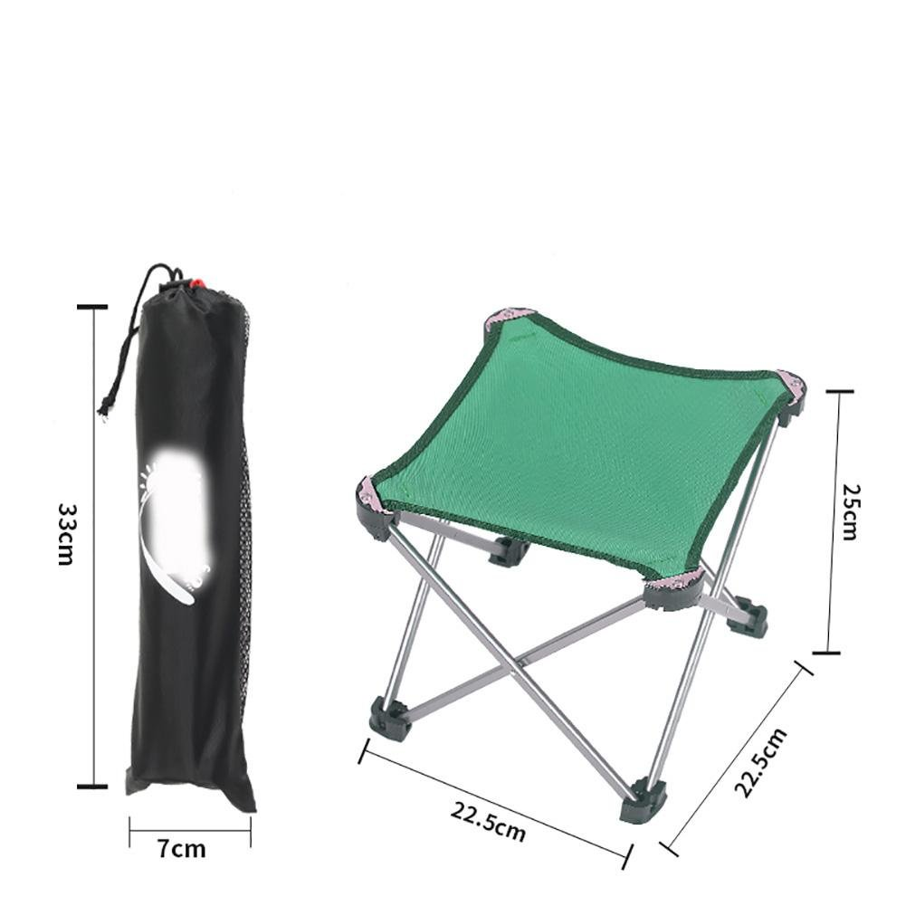 1Pc Portable Outdoor Camping Hiking Fishing Folding Stool Chair Seat Gargen , d by Unknown