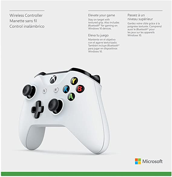 Microsoft - Mando Inalámbrico, Color Blanco (Xbox One), Bluetooth ...