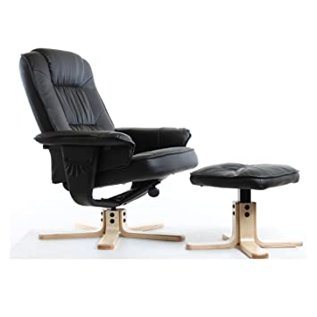 IDIMEX Fauteuil de relaxation CHARLY avec repose-pieds pouf siège pivotant  dossier inclinable assise ba19e89ce9bf