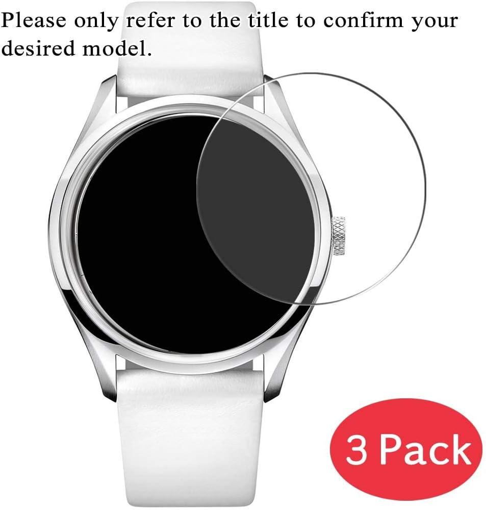 VacFun 3 Piezas Vidrio Templado Protector de Pantalla para Diesel DZ4282, 9H Cristal Screen Protector Sin Burbujas, Alta Definición Película Protectora Reloj Inteligente Smartwatch Pulsera