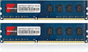 Kuesuny 8GB Kit (4GBX2) DDR3L-1600 Udimm, PC3L-12800/PC3L-12800U 4GB CL11 240 Pin 2RX8 Dual Rank Non ECC Unbuffered 1.35V/1.5V Desktop Computer Memory Ram Module Upgrade(Blue)