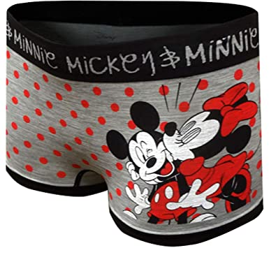 b859a2517ced MJC Women's Disney's Minnie and Mickey Mouse Seamless Boyshort Panty  (Medium) Gray