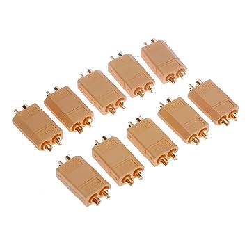 10 Paar XT60 Goldstecker und Buchse
